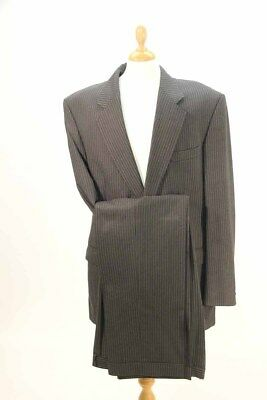 1980s Charcoal Grey Pinstripe Suit