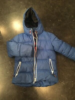 Next Boys Blue Padded Warm Winter Coat - Age: 9 Years - Hardly Worn