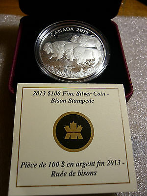 Canada  $100. - Bison - 9999 Pure Silver  Coin *NEW*  (2013)
