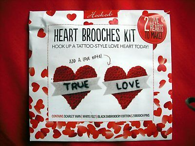 Unopened Simply Crochet Heart Brooches Kit