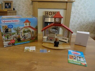 Sylvanian Families, boxed Wedding Chapel with Vicar. Calico Critters