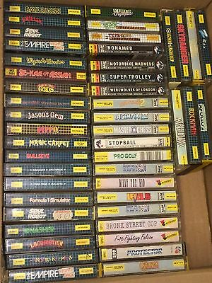 45 x SINCLAIR ZX SPECTRUM CASSETTE TAPE MASTERTRONIC GAMES BUNDLE MIXED JOB LOT