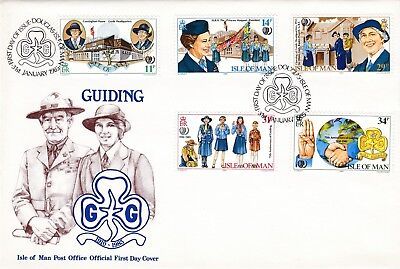 Girl Guides Isle Of Man 1985 FDC Scouting