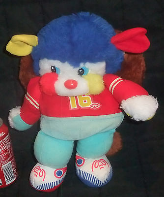 PELUCHE POPPLES COLLECTION SPORTIFS RUGBYMAN RUGBY VINTAGE ANNÉE 80's