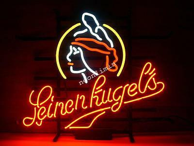 New WISCONSIN LEINENKUGELS LAGER Beer Bar Real NEON LIGHT SIGN Fast Free Shiping