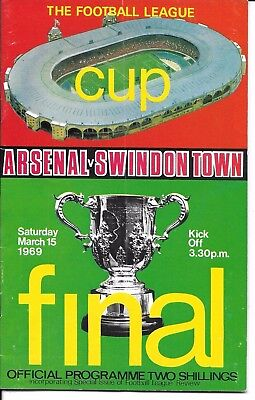 Football Lge Cup Final 1969 Arsenal v Swindon Town #Wembley 15th March 1969