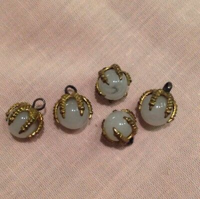 5 Vintage Eagles Gold Claw With Moonstone Buttons