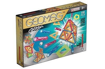 Geomag Color GLITTER 68 Constuction System Magnetic Building Toy Set -SWISS MADE
