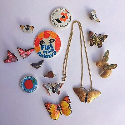 Butterfly Job Lot - vintage brooches, earrings and a necklace