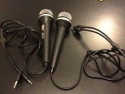 2 vintage Philips Dynamic Microphones