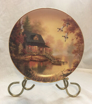 Bradford Exchange collector plate Tranquil retreats Daybreak Judy Gibson1996 EUC