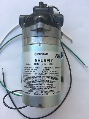 Shurflo 115v pump 8000-912-288 1.4gpm 100 psi Carpet Cleaning Extractor pump