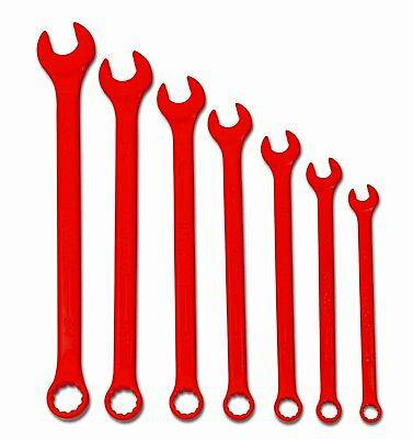 New Snap-On's Williams Brand  7-Piece Red Combination Wrench Set P# WS-1170RSC