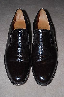 Matthew DACK Shoes Made in Montreal MEN'S EMBOSSED ALLIGATOR LOAFERS SIZE 11 D