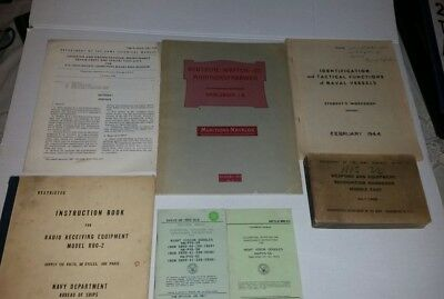 Lot of  Vintage US And Foreign  Military Books Munitions, Weapons, Training