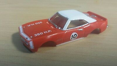 Auto world tjet slot car body red camaro