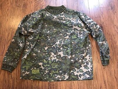 Renegade Men's Large Paintball Airsoft Jersey camo camouflage air soft shirt