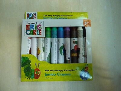 World of Eric Carle The Very Hungry Caterpillar jumbo crayons 10 pack, 2014