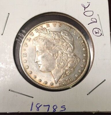 1878-S MORGAN SILVER DOLLAR  - 1st YEAR COIN MINTED!