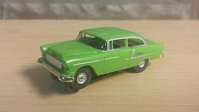 Aurora chassis model motoring lime green 1955 Chevy bel air