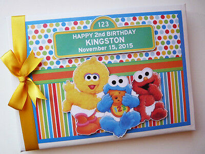 Personalised Baby Sesame Street First/1St Birthday Guest Book Any Design