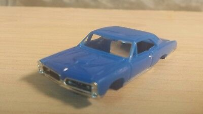 Model motoring tjet slot car body 1967 gto blue