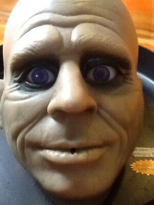 Halloween rare! Gemmy motion activated bald head ( eyes move & speaks!) & pressy