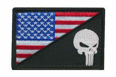 Tactical USA / Punisher Flag Embroidered Patch