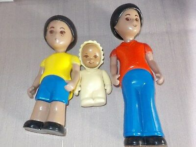 Vintage Little Tikes Dollhouse Doll People  african american LOT 4