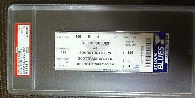 Connor Mcdavid Rare First Nhl Game Ticket Psa Graded 10 (Oct.8,2015)