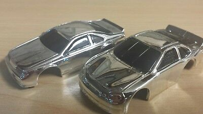 special chromed tyco 440x2 hp7 body lot ford thunderbird & Chevy Nascar
