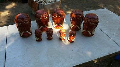 5 Totoal - Vintage Mr. Bali Hai Tiki Mug Bali Hai with 2 Sets of Salt and Pepper