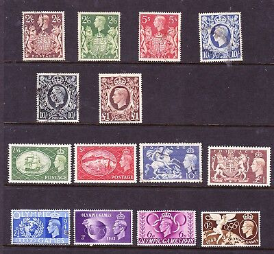 Great Britain stamps - KGV1  MUH, MH & Used