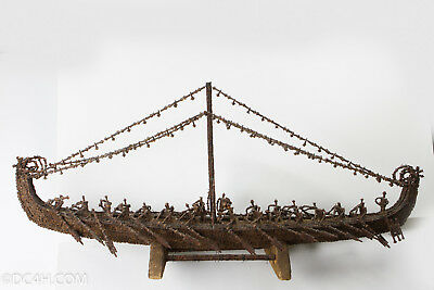 Antique SHIP Made Of Cloves From Moluccas-Spice Island Indonesia RARE Treasure