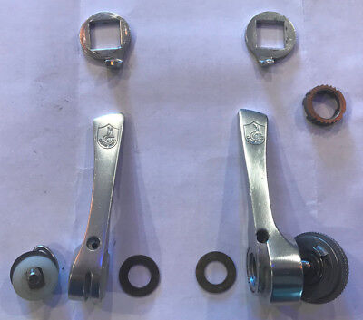 Near Mint Vintage Campagnolo C-Record Syncro II Shifters Braze-on 7 or 8 Speed