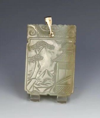 A Chinese antique jade carved pendant