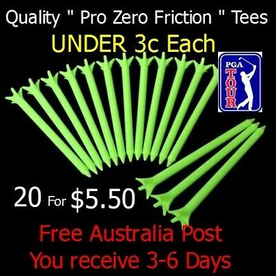 """"""" Zero Friction"""" Tees.. 20 Pack for $5.. Aus Seller.. Free Postage"""