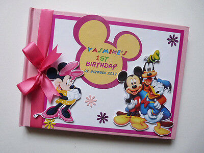 Personalised Disney Minnie & Friends Birthday Guest Book Any Design