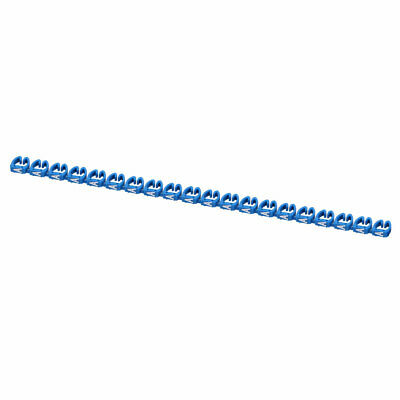 20 Pcs Letters A Network Cable Labels Markers Blue for 6.0-10.0mm Dia Cable