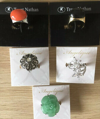 Gorgeous Bulk Lot Trent Nathan & Angelique Rings 5 Pieces Brand New RRP $250