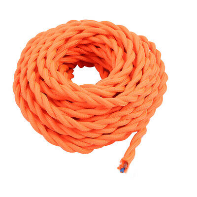 DIY Dual Core Orange Braided Cable Wire Chandelier Power Cord 8 Meters Long