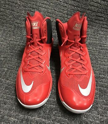 Nike Prime Hype DF II Sz 10.5 University Red Reflect Silver New