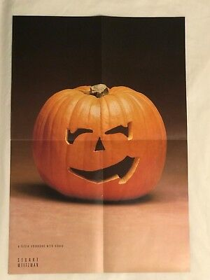 2000 Stuart Weitzman Shoes Halloween Pumpkin POSTER, 4 pages big, Photo Print Ad