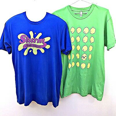 American Apparel Mens Tees Large funny shirts tops green blue Lemon         CL