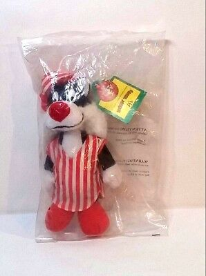"""McDonalds Looney Tunes Sylvester In Pajamas Plush From 1992 - 10"""""""