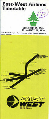 East-West Airlines Timetable 1969