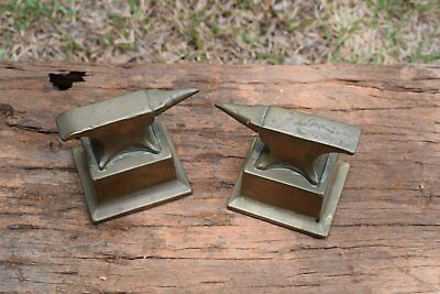 2  X  Vintage Brass Watchmakers Anvils