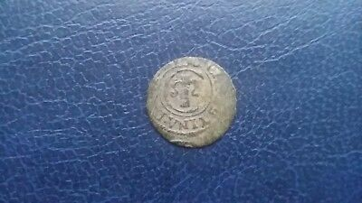 Sweden.Solidus 1653. LIVONIA. Swedish occupation of Riga. Medieval silver coin.