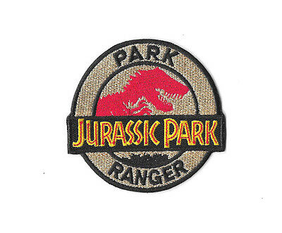 JURASSIC PARK RANGER IRON ON PATCH Embroidered Badge JURASSIC WORLD PT247