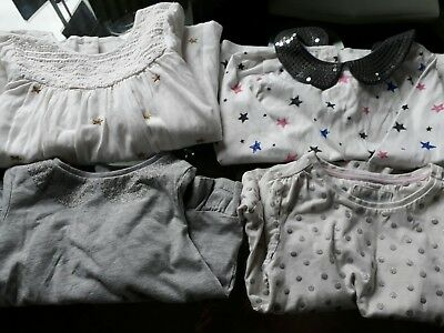 Christmas/winter girls tops with sparkle 3-4 years